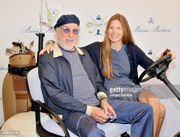Producer Lou Adler and Page Hannah attend Brooks Brothers MINI CLASSIC Golf Tournament to benefit St. Jude Children's Research Hospital at Brooks...
