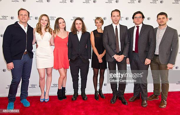 Producer Luca Borghese actors Louisa Krause Emily Meade Rory Culkin Alexia Rasmussen David Call director Lou Howe and producer Ben Howe attend the...