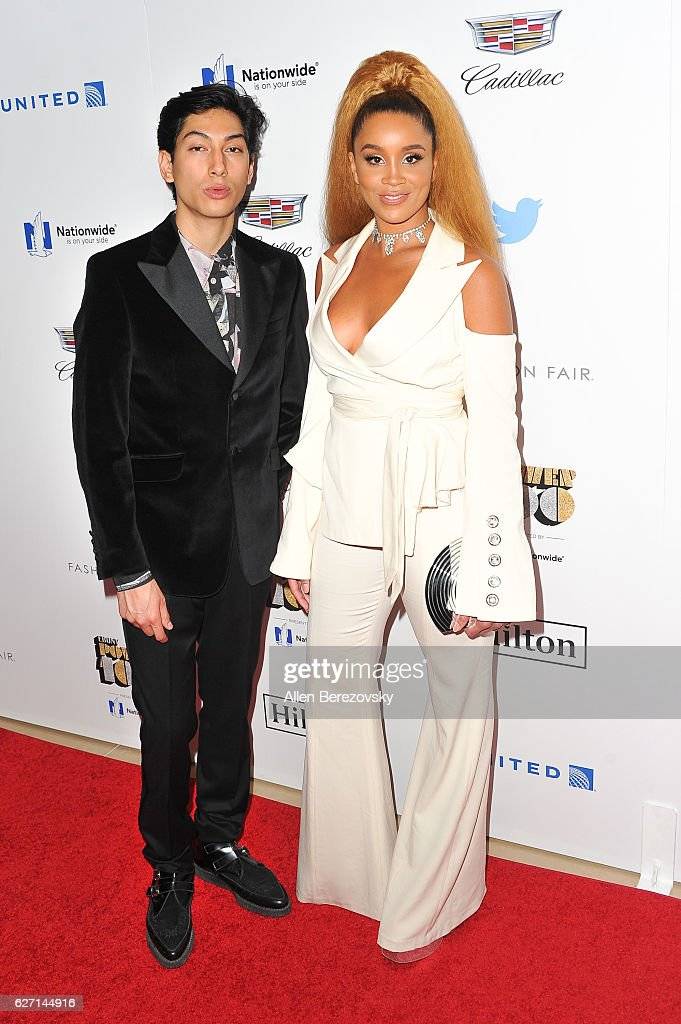 Producer Lucas Goodman (L) and singer Jillian Hervey of Lion Babe attend 2016 Ebony Power 100 Gala at The Beverly Hilton Hotel on December 1, 2016 in Beverly Hills, California.