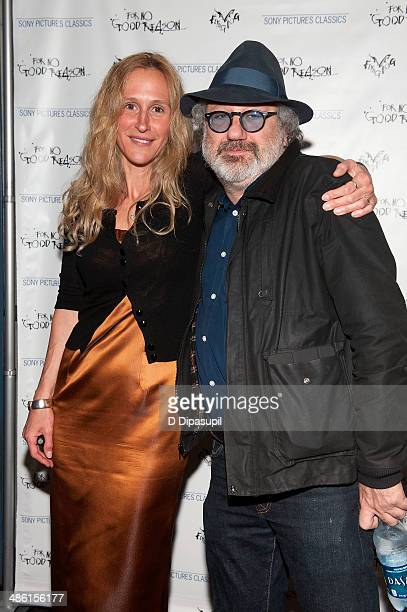 Producer Lucy Paul and Hal Willner attend the For No Good Reason screening at AMC Loews 19th Street Theater on April 22 2014 in New York City