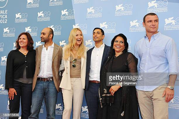 Producer Lydia Dean Pilcher coscreenwriter Mohsin Hamid actress Kate Hudson actor Riz Ahmed director Mira Nair and actor Liev Schreiber attend The...