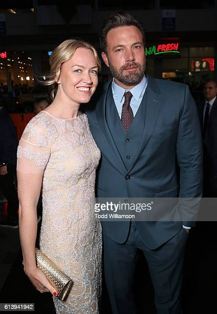 Producer Lynette Howell Taylor and Ben Affleck attend the Premiere Of Warner Bros Pictures' 'The Accountant' at TCL Chinese Theatre on October 10...
