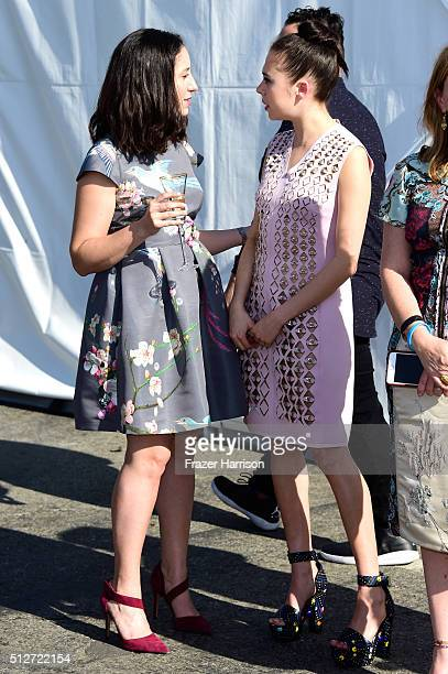 Producer Madeline Samit and actress Bel Powley attend the 2016 Film Independent Spirit Awards on February 27 2016 in Santa Monica California