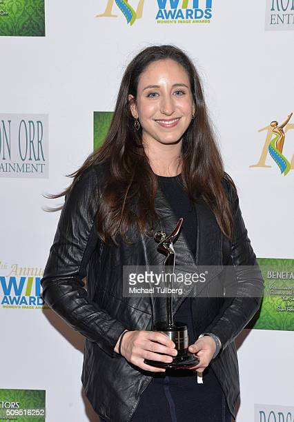 Producer Madeline Samit recipient of the Outstanding Feature Film award for 'The Diary of a Teenage Girl' poses in the press room at the 17th Annual...
