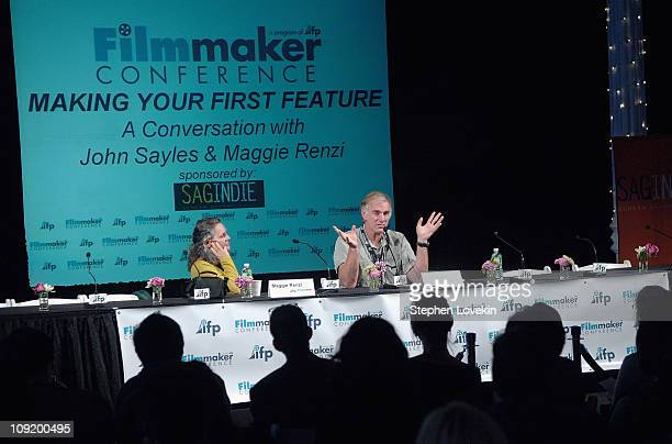 Producer Maggie Renzi and Director John Sayles speaking at the IFP Master Class and Conference Panel at The Puck Building in New York City on...
