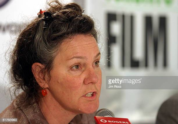 Producer Maggie Renzi talks at a press conference for the movie Silver City at the 29th annual Toronto International Film Festival September 11, 2004...