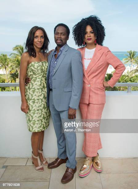 Producer Maisha Closson and Actors Harold Perrineau and Janine Sherman Barrois pose for a portrait during the 22nd Annual American Black Film...