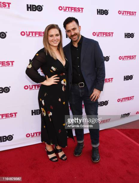 Producer Mallory Schwartz and actor Alexander Schwartz arrive at the 2019 Outfest Los Angeles LGBTQ Film Festival Closing Night Gala Premiere of...