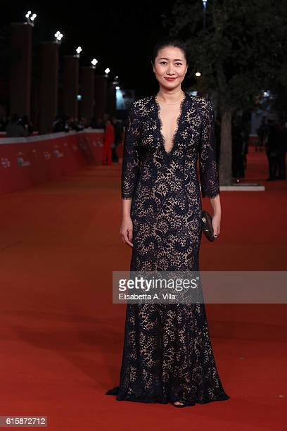 Producer Mandy Law walks a red carpet for 'San Shao Ye De Jian Sword Master 3D' during the 11th Rome Film Festival at Auditorium Parco Della Musica...