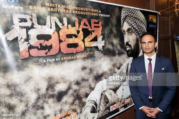 Producer Manmord Singh Sidhu attends the global launch of 'Punjab 1984' at Royal King Palace on June 11, 2014 in Surrey, Canada.