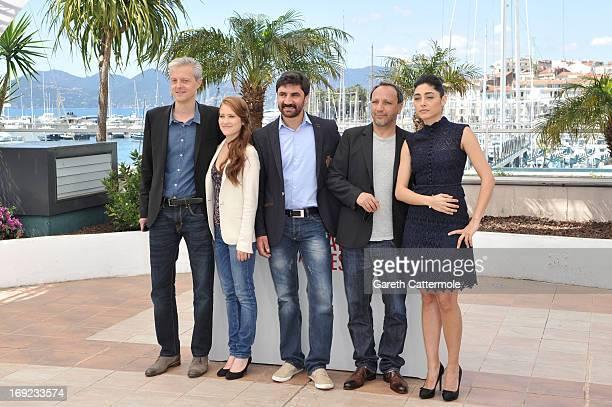 Producer Marc Bordure actress Veronique Wuthrich actor Korkmaz Arslan director Hiner Saleem and actress Golshifteh Farahani attend the 'My Sweet...