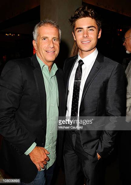 Producer Marc Platt and actor Zac Efron attend the after party for the premiere of Universal Pictures' Charlie St Cloud held at the Napa Valley...