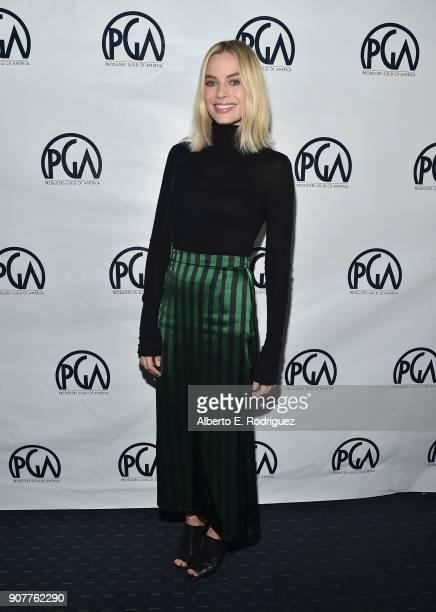 Producer Margo Robbie attends the 29th Annual Producers Guild Awards Nominees Breakfast at the Saban Theater on January 20 2018 in Los Angeles...