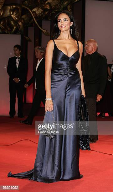 Producer Maria Grazia Cucinotta's arrives at the premiere for All The Invisible Children at the Palazzo del Cinema as part of the 62nd Venice Film...