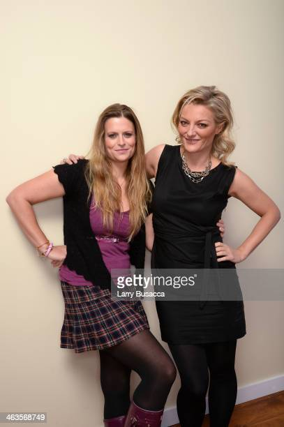 Producer Marianna Palka and filmmaker Lucy Walker pose for a portrait during the 2014 Sundance Film Festival at the WireImage Portrait Studio at the...