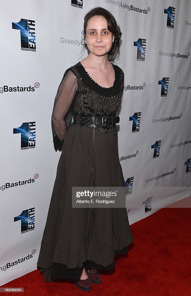 Producer Marianna Yarovskaya attend a screening of 1 Earth Productions' 'Greedy Lying Bastards' at Harmony Gold Theatre on March 6, 2013 in Los Angeles, California.
