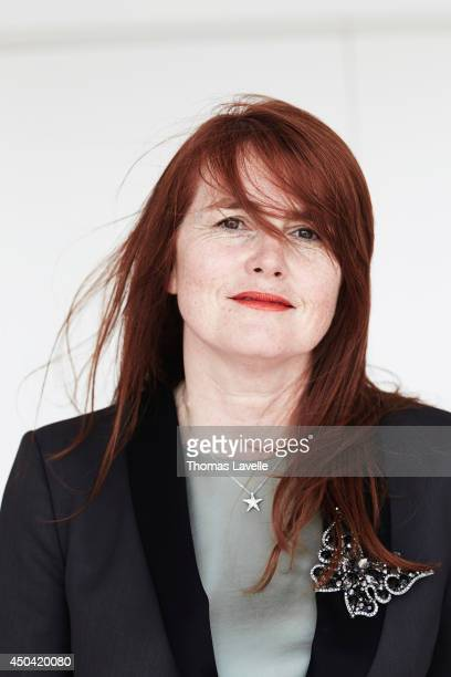 Producer Marie Castille Mention Schaar is photographed for Self Assignment on May 21 2014 in Cannes France