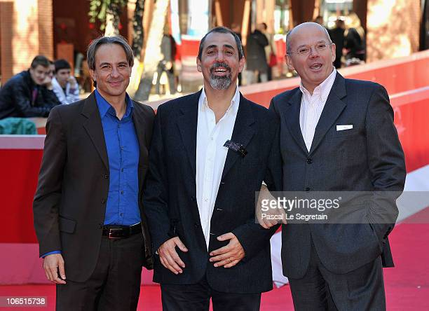 "Producer Mario Mazzarotto, director Massimo Natale and producer Carlo Brancaleoni attends the ""L'estate Di Martino"" Premiere during the 5th..."