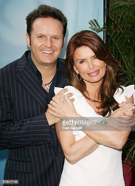 Producer Mark Burnett and actress Roma Downey attend the CBS Upfront Presentation at Tavern On The Green May 17 2006 in New York City