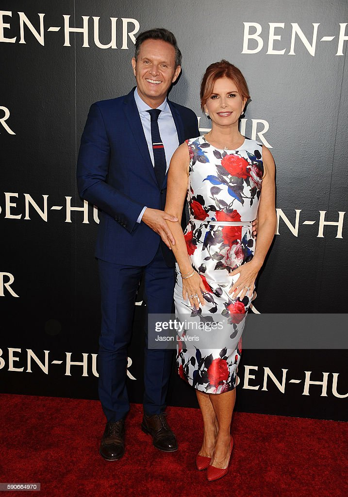 Producer Mark Burnett and actress Roma Downey attend the premiere of 'Ben-Hur' at TCL Chinese Theatre IMAX on August 16, 2016 in Hollywood, California.