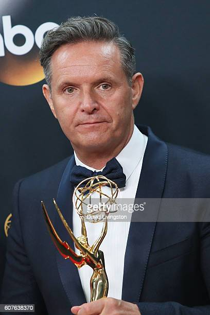 Producer Mark Burnett winner of the award for Outstanding RealityCompetition Series for 'The Voice' poses in the 68th Annual Primetime Emmy Awards...