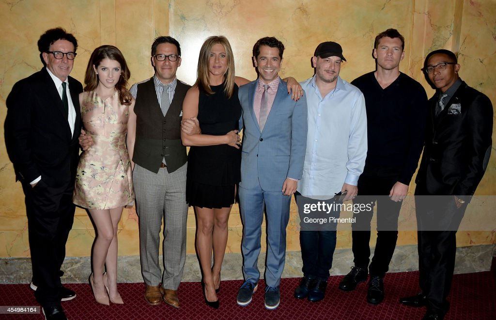 Producer Mark Canton, actress Anna Kendrick, producer Ben Barnz, actress/executive producer Jennifer Aniston, director Daniel Barnz, producer Courtney Solomon, actor Sam Worthington and actor Allen Maldonado attend the 'Cake' premiere during the 2014 Toronto International Film Festival at The Elgin on September 8, 2014 in Toronto, Canada.