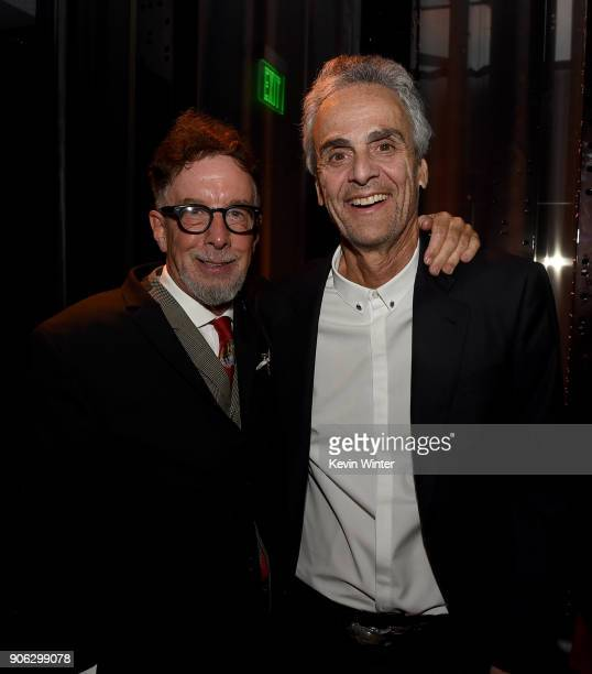 Producer Mark Canton and Allen Shapiro CEO Dick Clark Productions attend the after party for the premiere of STX Films' 'Den Of Thieves' at WP24...