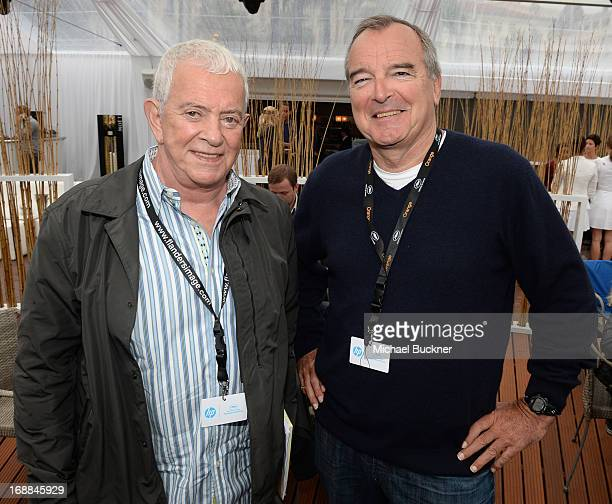 Producer Mark Damon and producer Ken Davidson attends the Torch Cannes Lone Survivor Breakfast during The 66th Annual Cannes Film Festival at Torch...