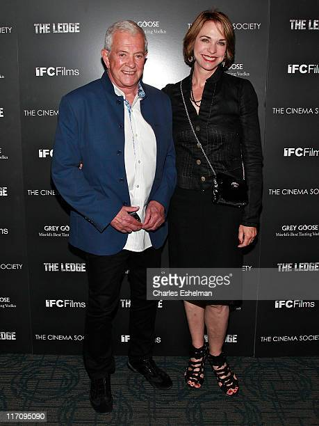 Producer Mark Damon andf wife Maggie Damon attend The Cinema Society Grey Goose host a screening of The Ledge at Landmark Sunshine Cinema on June 21...