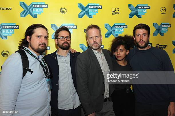 Producer Mark De Pace writer/director Benjamin Dickinson and producers Zachary Mortensen Melody C Roscher and Craig Shilowich attend the premiere of...