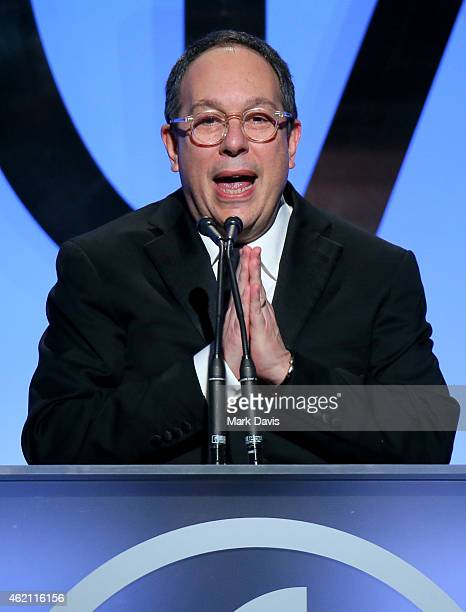 Producer Mark Gordon accepts the PGA Lifetime Achievement Award in Television onstage during the 26th Annual Producers Guild Of America Awards at the...