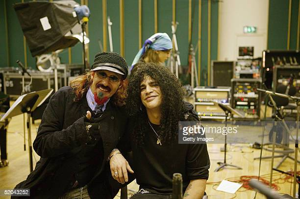 Producer Mark Hudson and Slash of Velvet Revolver record the charity cover of Eric Clapton's Tears In Heaven Tsunami Relief Single at Whitfield...