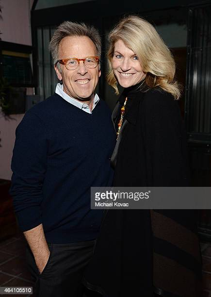 Producer Mark Johnson and Lezlie Johnson attend the AMC Networks and IFC Films Spirit Awards After Party on February 21 2015 in Santa Monica...