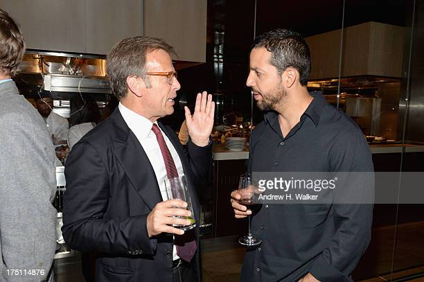 Producer Mark Johnson and magician David Blaine attend the 'Breaking Bad' NY Premiere 2013 after party at Lincoln Ristorante on July 31 2013 in New...
