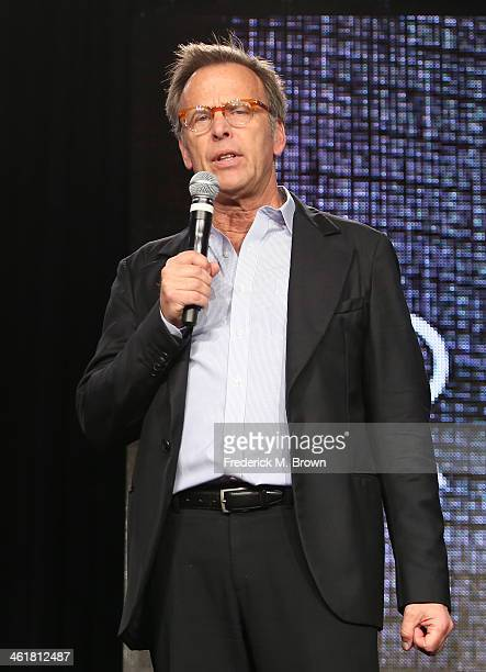 Producer Mark Johnson speak onstage during the 'Sundance Channel - Rectify' panel discussion at the AMC/Sundance portion of the 2014 Winter...
