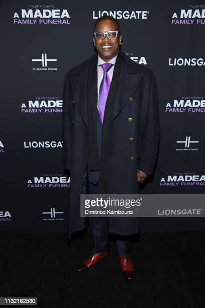 Producer Mark Swinton attends a screening for Tyler Perry's A Madea Family Funeral at SVA Theater on February 25 2019 in New York City