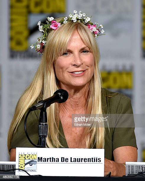 Producer Martha De Laurentiis attends the 'Hannibal' Savor the Hunt panel during ComicCon International 2015 at the San Diego Convention Center on...