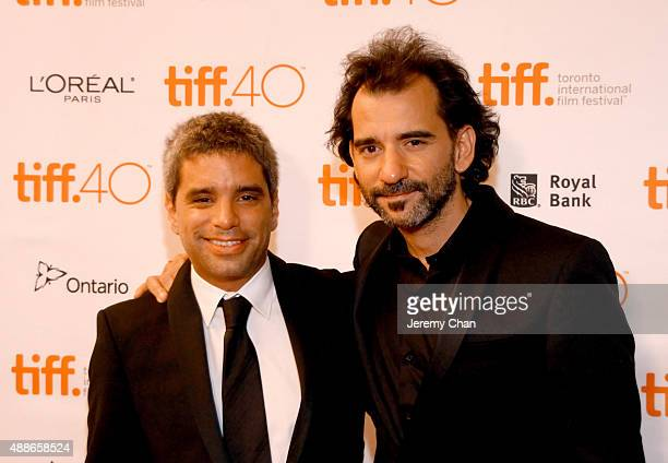 Producer Matias Mosteirin and filmmaker Pablo Trapero attend 'The Clan' photo call at The Elgin on September 16 2015 in Toronto Canada