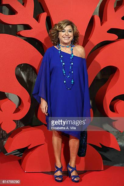 Producer Matilde Bernabei walks a red carpet for 'I Medici' at Palazzo Vecchio on October 14 2016 in Florence Italy