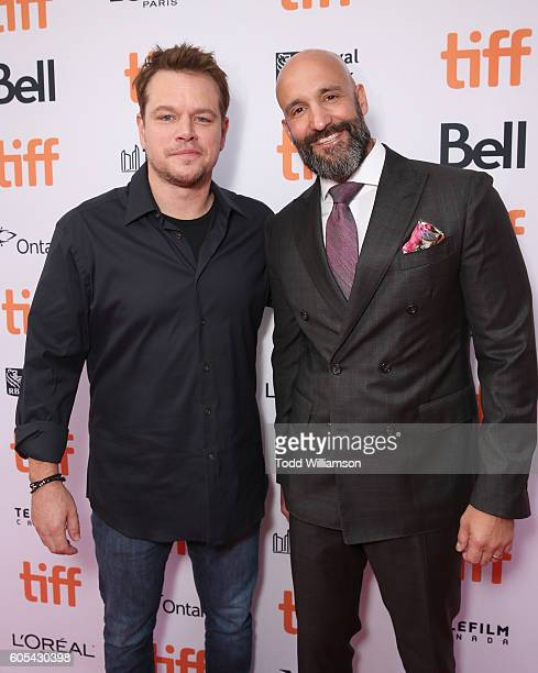 Producer Matt Damon and Amazon Studios Head of Worldwide Film Jason Ropell attend Amazon Studios' 'Manchester By The Sea' Toronto International Film...