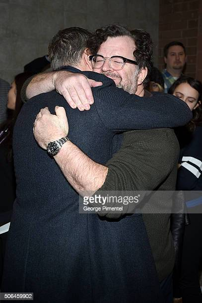 Producer Matt Damon and writer/director Kenneth Lonergan attend the 'Manchester By The Sea' Premiere during the 2016 Sundance Film Festival at Eccles...
