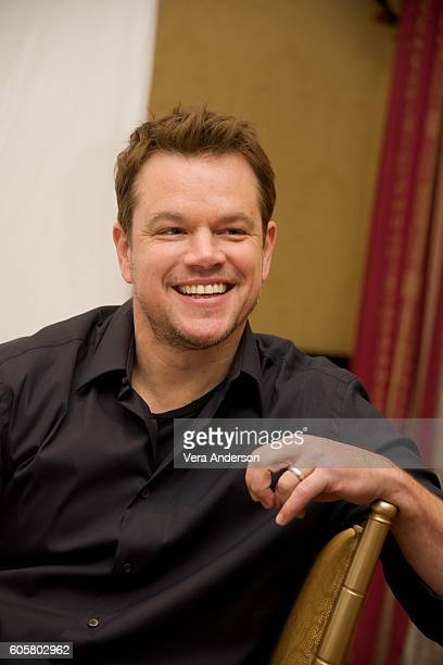 Producer Matt Damon at the 'Manchester by the Sea' Press Conference at the Fairmont Hotel on September 13 2016 in Toronto Canada