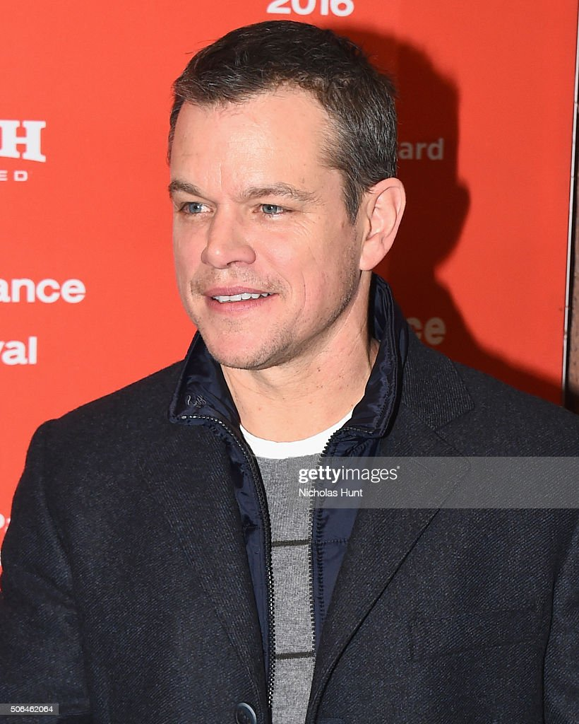 Producer Matt Damon attends the 'Manchester By The Sea' Premiere during the 2016 Sundance Film Festival at Eccles Center Theatre on January 23, 2016 in Park City, Utah.