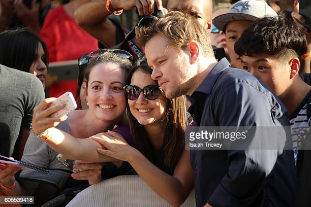 Producer Matt Damon attends the 'Manchester by the Sea' premiere during the 2016 Toronto International Film Festival at Princess of Wales Theatre on...