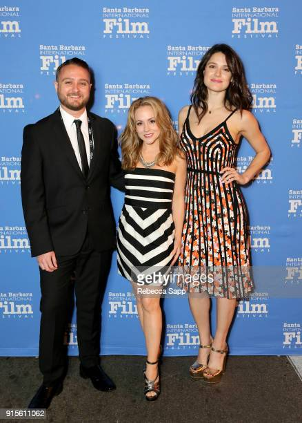 Producer Matt DeMarco actresses Kelly Stables and Ali Cobrin at The American Riviera Award Honoring Sam Rockwell during The 33rd Santa Barbara...