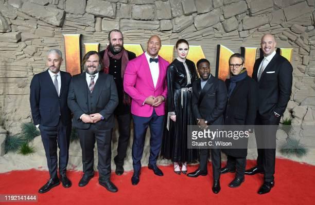 Producer Matt Tolmach, Jack Black, Rory McCann, Dwayne Johnson, Karen Gillan, Kevin Hart, Director Jake Kasdan and Producer Hiram Garcia attend the...