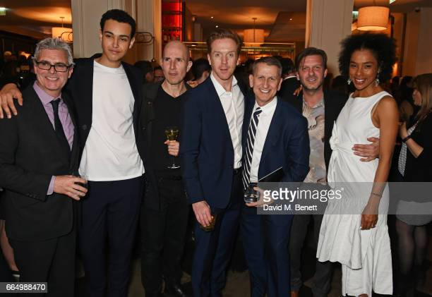 Producer Matthew Byam Shaw Archie Madekwe director Ian Rickson Damian Lewis producer Tom Kirdahy Jason Hughes and Sophie Okonedo attend the press...