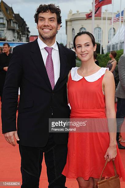 US producer Matthew Gordon and French producer Marianne Michallet arrive at the Closing Ceremony of the 37th Deauville American Film Festival on...