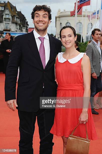 Producer Matthew Gordon and French producer Marianne Michallet arrive at the Closing Ceremony of the 37th Deauville American Film Festival on...