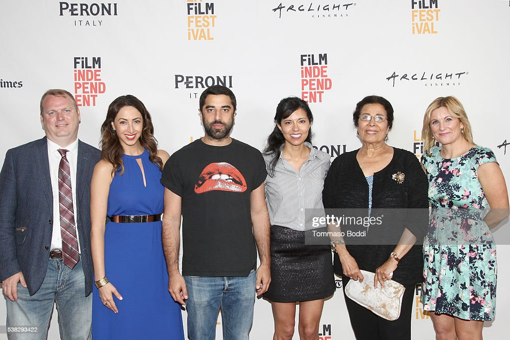 Producer Matthew Keene Smith, actors Nicole Haddad and Karim Saleh, director Heidi Saman, actress Wedad Abdou and producer Kristin Fairweather attend the premiere of 'Namour' during the 2016 Los Angeles Film Festival at Arclight Cinemas Culver City on June 5, 2016 in Culver City, California.